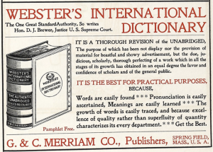 Webster's Intl. Dictionary